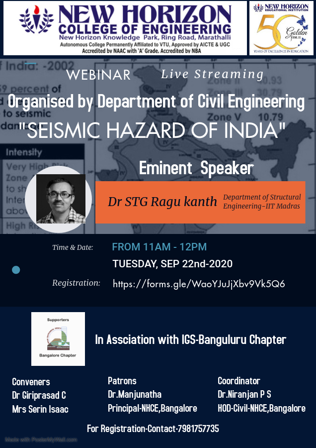 SEISMIC HAZARDS ON INDIA – Made with PosterMyWall