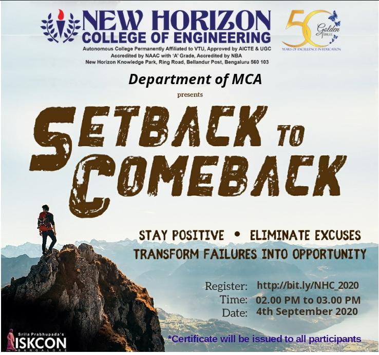 setback for comeback-4th Sept