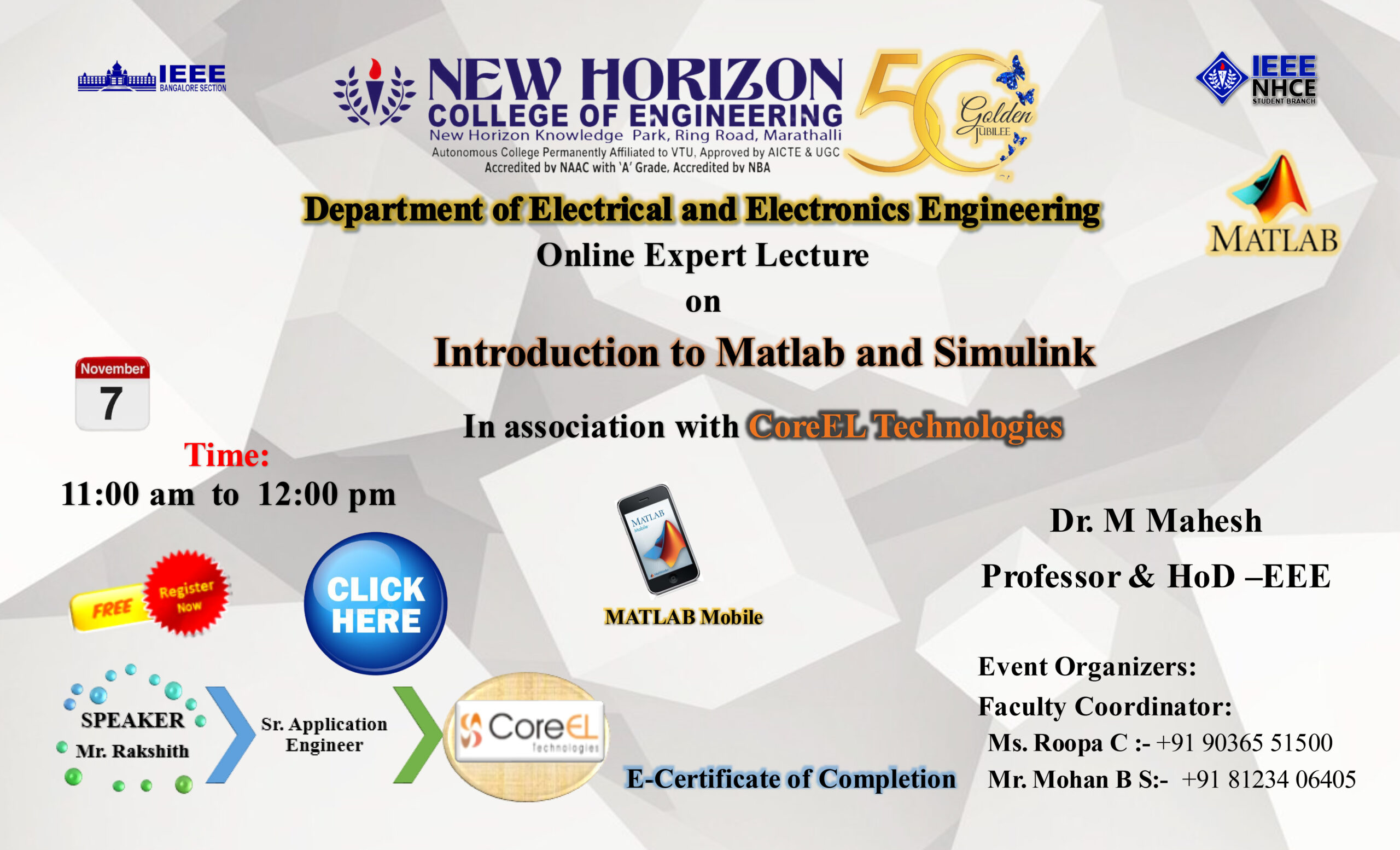 Online Expert Lecture on- Introducion to Matlab and Simulink-7th November 20201