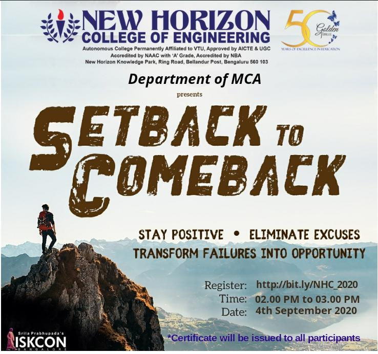 setback for comeback-4th Sept