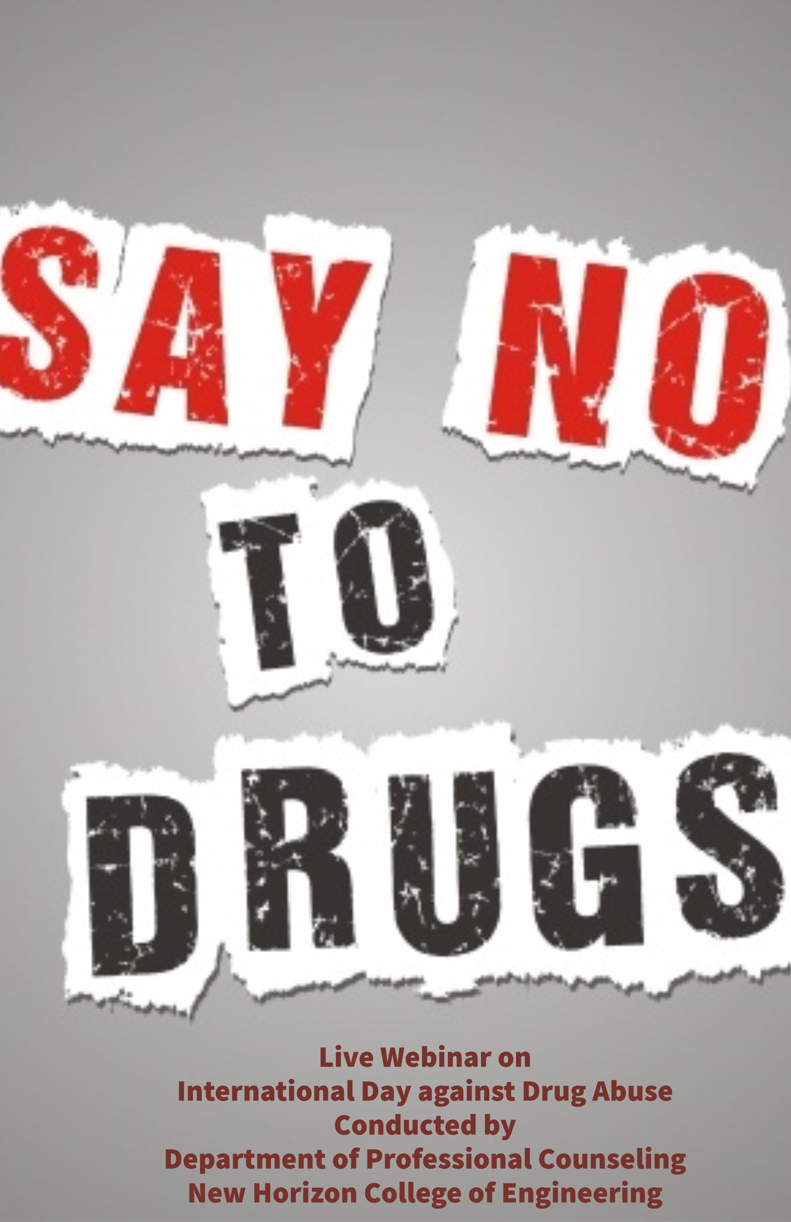 """A small """"NO"""" can go a long way – International Day Against Drug Abuse"""